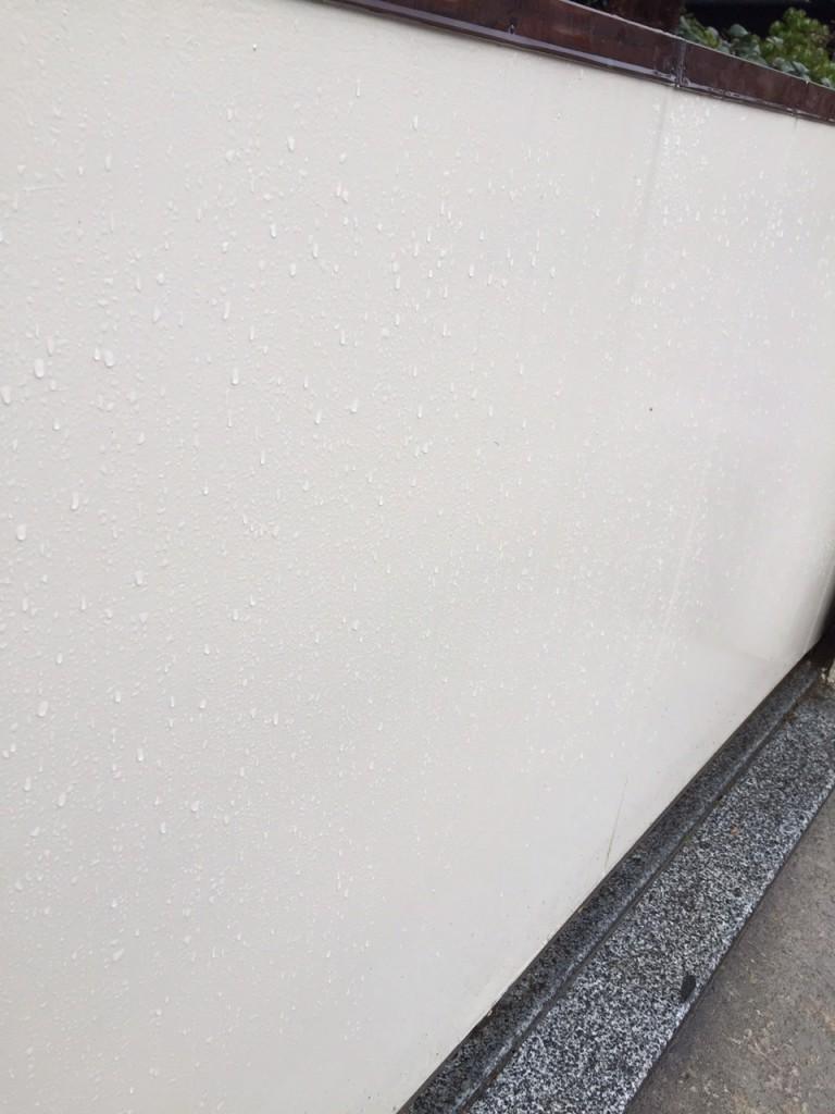 外壁 塗りたて